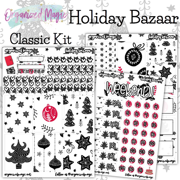 Holiday Bazaar Classic weekly planner sticker kit
