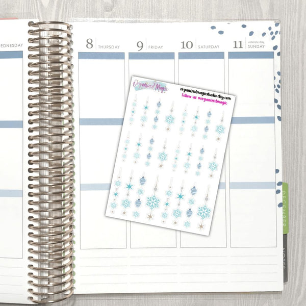 Icicles planner stickers