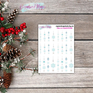 light blue icicle planner stickers