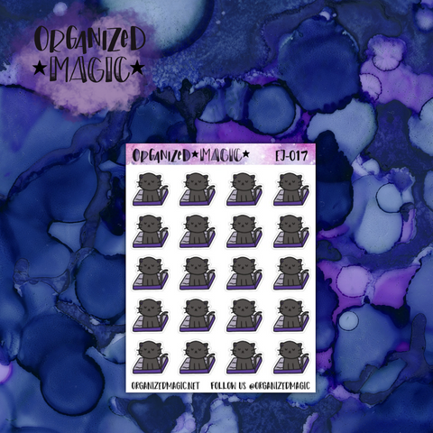 Clean Jinx's Litter Box planner stickers