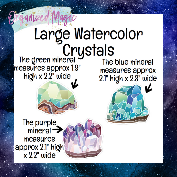 Watercolor Crystals Die Cuts