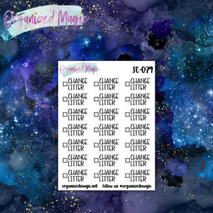 change litter script planner stickers