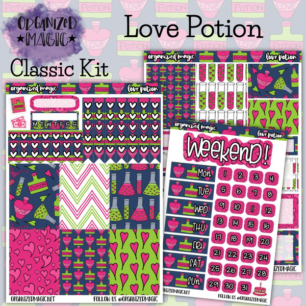 Love Potion Classic weekly planner sticker kit