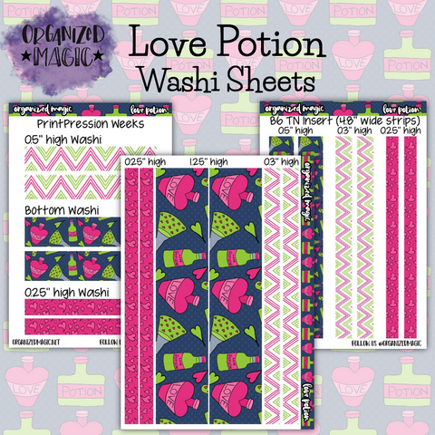 Love Potion Washi Sheet