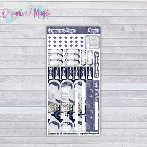 magic owl crystal sun hobonichi weeks planner sticker kit