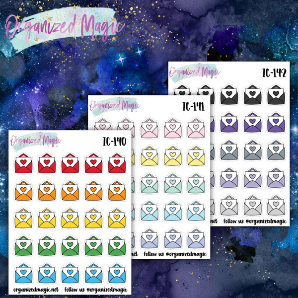 mail icon planner stickers