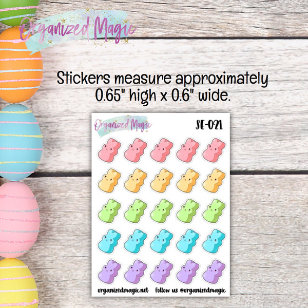 Marshmallow Bunnies Planner Stickers