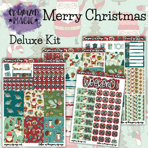 Merry Christmas Deluxe weekly planner sticker kit