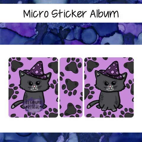 Micro Black Cat Sticker Album