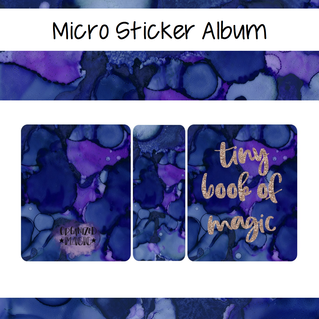 Micro Tiny Book of Magic planner sticker album