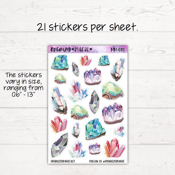 Watercolor Crystals Planner Stickers