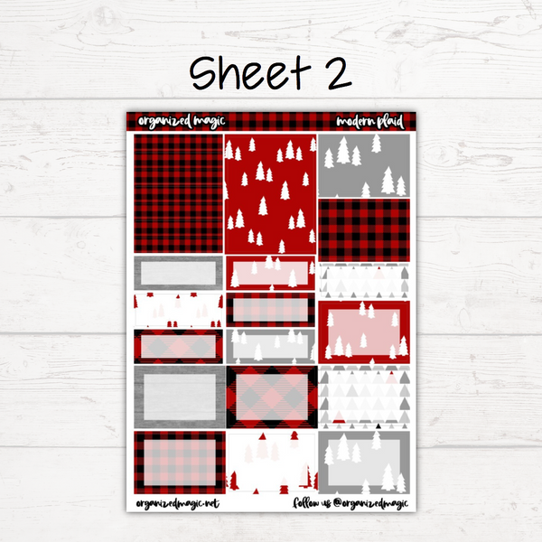 Modern Plaid Deluxe Weekly Kit