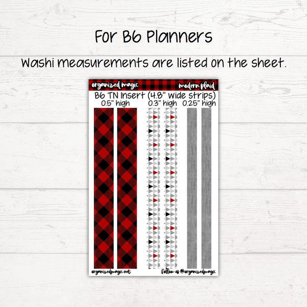 Modern Plaid Washi Sheet