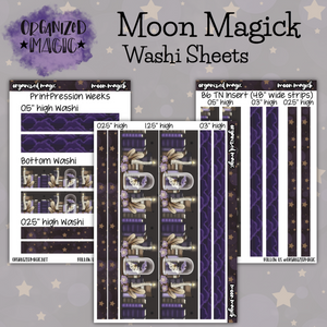 Moon Magick washi sheet planner stickers