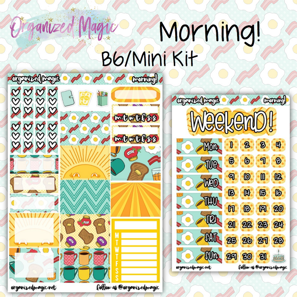 Morning! B6/Mini Kit planner stickers