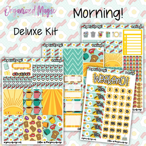 Morning! Deluxe weekly planner sticker kit