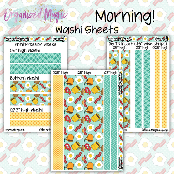 Morning! washi sticker sheets