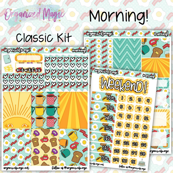 Morning! Classic weekly planner sticker kit
