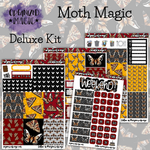 Moth Magic Deluxe weekly planner sticker kit