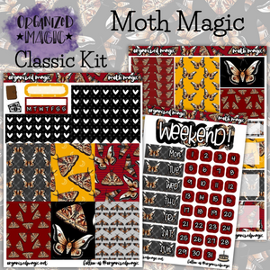 Moth Magic Classic weekly planner sticker kit