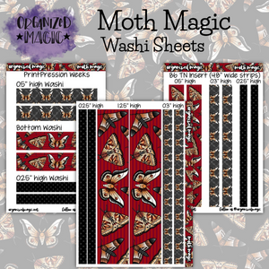 Moth Magic Washi sticker sheets
