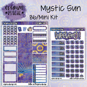 Mystic Sun B6 Mini planner sticker kit