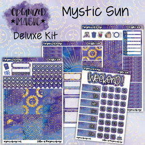 Mystic Sun Deluxe Weekly Planner sticker kit