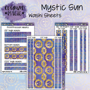Mystic Sun washi sticker sheets