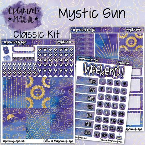 Mystic Sun Classic weekly planner sticker kit