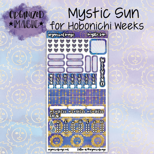 Mystic Sun Hobonichi Weeks planner sticker kit