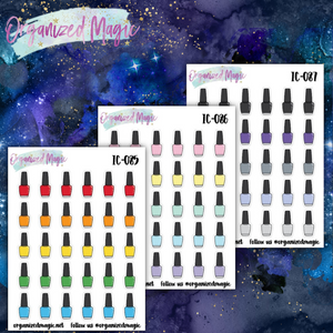 Nail polish icon planner stickers