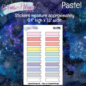 Doodle Banner Flag Planner Stickers