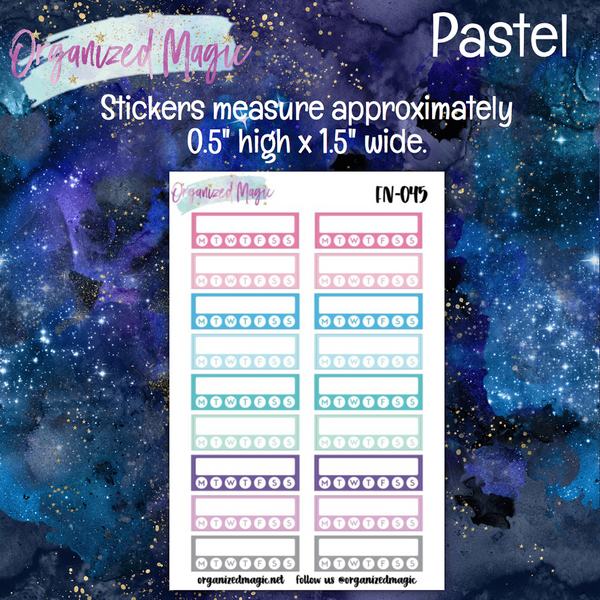 Daily Habit Trackers Planner Stickers