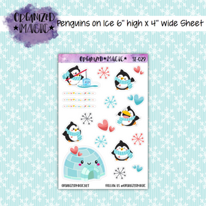 Penguins on Ice deco seasonal planner stickers