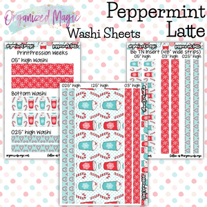 Peppermint Latte Washi sheets planner stickers