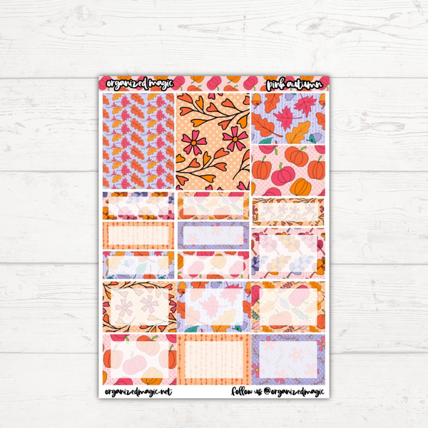 Pink Autumn Classic Weekly Kit