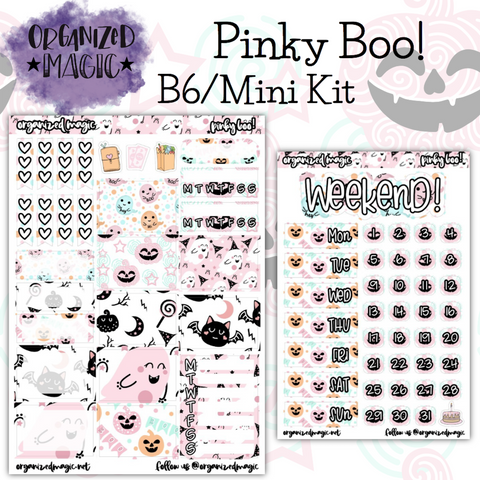 Pinky Boo! B6 - Mini Kit planner stickers
