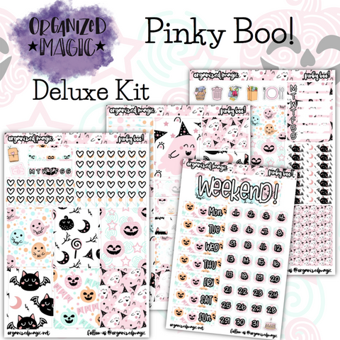Pinky Boo! Deluxe weekly planner sticker kit