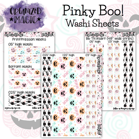 Pinky Boo! Washi strip planner sticker sheets
