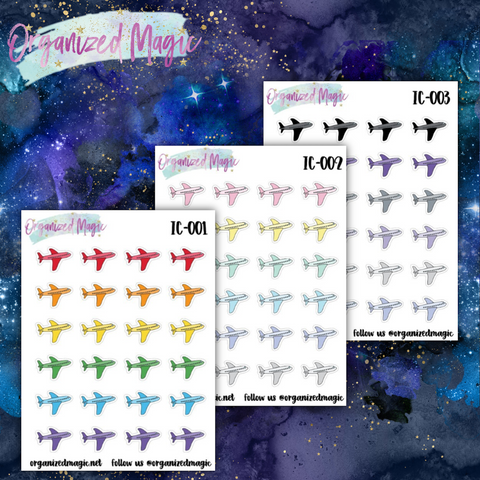 airplane planner stickers