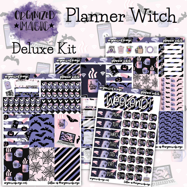 Planner Witch Deluxe weekly planner sticker kit