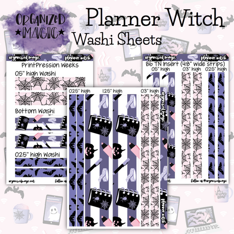 Planner Witch washi sheets