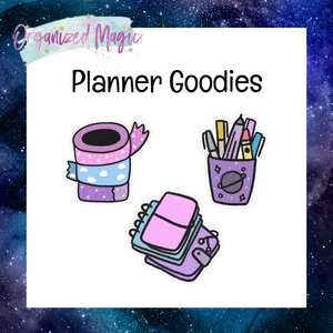 doodle washi planner stack pen cup die cut stickers