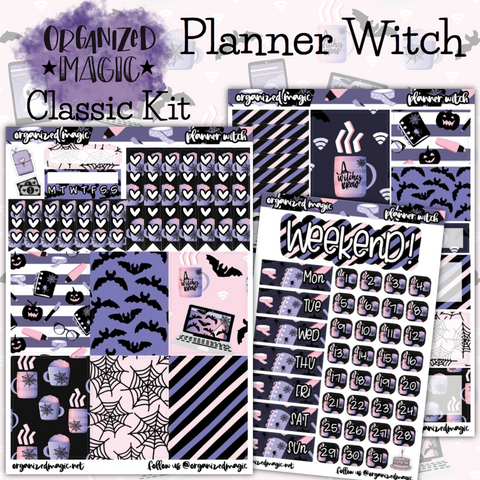 Planner Witch Classic weekly planner sticker kit