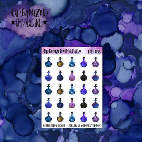 Magic Potions galaxy planner stickers