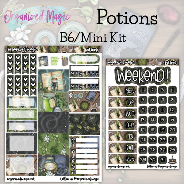 Potions B6 Mini Kit weekly planner sticker kit