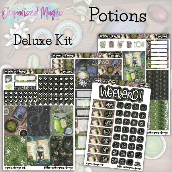 Potions Deluxe weekly planner sticker kit