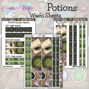 Potions washi sheets planner stickers