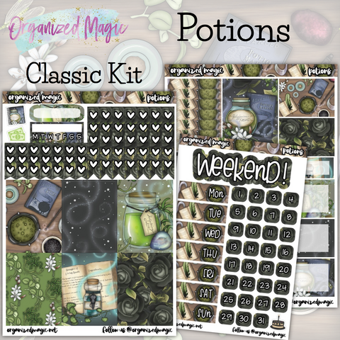 Potions Classic weekly planner sticker kit