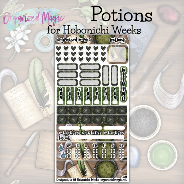 Potions Hobonichi Weeks planner sticker kit